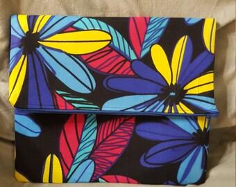 Handmade Colorful Flowered Ankara Fabric Klutch