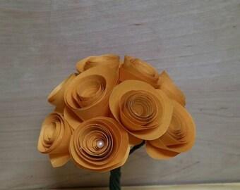 "Paper rose bouquet ""goldenrod"""