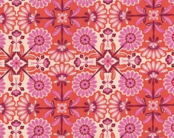 "Floral Fabric - The Sultan's Garden Flowers fabric Pink 100% cotton Fabric by the yard 36""x44"" (H65)"