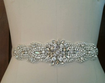 Wedding Belt, Bridal Sash Belt - Crystal Wedding Sash Belt