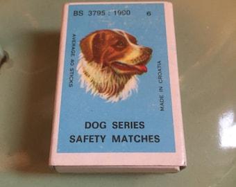 Vintage dog matchbox