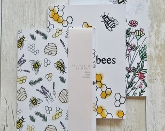 Set of 3 Bee Notebooks
