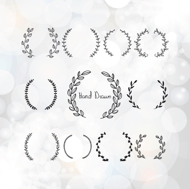 Vintage laurel wreath clipart Laurel Wreaths SVG by Linescut