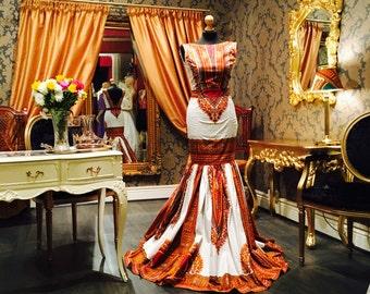 Dashiki African Print Evening dress