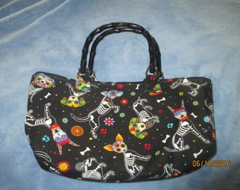 Day of the Dead Dog Purse