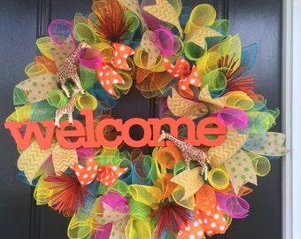 Bright  Welcome Wreath