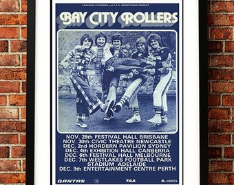 Bay City Rollers - 'Australia 1975' Tour Poster