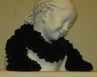 Black Ruffle Scarf with a little sparkle