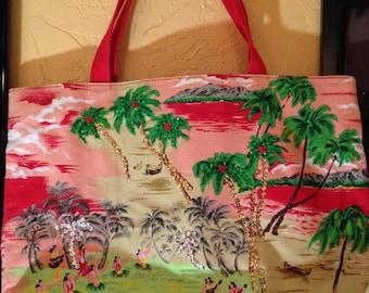 Hawaiin beach bag 90s