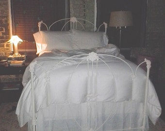 Antique Victorian Iron Bed circa mid 1800's