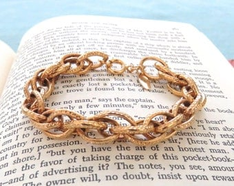 Gold Chain Link Bracelet // Sarah Coventry Gold Bracelet // Sarah Cov Gold Link Bracelet
