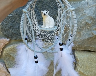Polar bear cub dreamcatcher