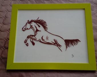 horse jumping;
