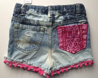 3T Distressed Denim shorts