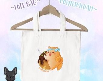 Pomeranian Takoyaki Tote Bag