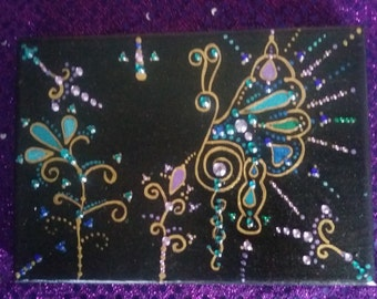 8x5 butterfly painting