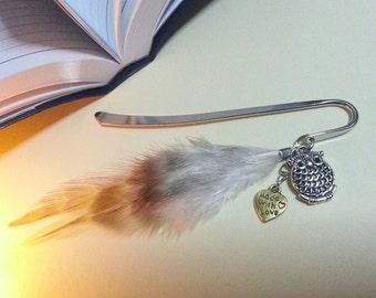 Owl Bookmark, Feather Bookmark