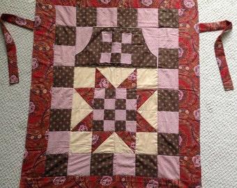 Red star wheelchair lap quilt