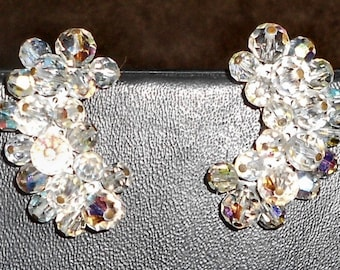 "1"" 1/2 Vintage Clip On Earrings.. Free Shipping In USA"
