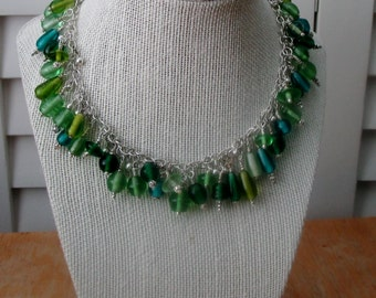 Glass Bead Choker and Earring set