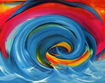 Wave giclee art print