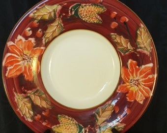 One Sale, Made In Italy,  Extra Large Bowl, Hand Painted Italian Plate, Holiday Serving Plate, Decorative Plate, Italian Ceramic,