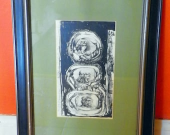Gary Slipper Pen and Ink 'The Seeds of Time' 1965 Original.