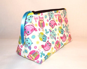 Colorful Owls Cosmetic Bag