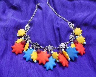 Bold Star Acrylic Drop Necklace