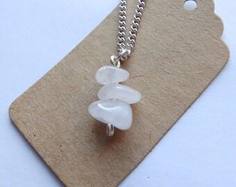 Handmade Gemstone Wire Wrap Necklace