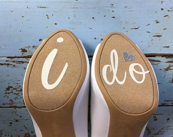 I Do-Wedding Shoe Sticker Decal-Something Blue