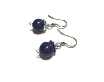 Lapis lazuli elegant earrings- gemstones, gifts