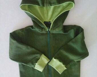 Children's Fleece hoodie with zipper and zippered sweatshirt with hood and application/Kids wall light