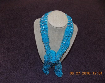 Beautiful Beaded Crocheted Necklace