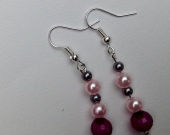 Dangly Beaded earrings in various colours