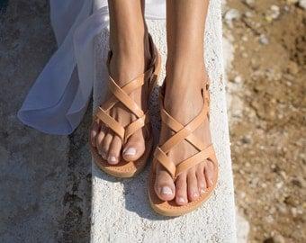 Sandals,Greek sandals,Leather sandals,Full Strappy sandals,Handmade sandals,Women sandals,Women shoes,Triskelion,GAIA,