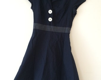 1990s Sailor Dress - Ruby Rox