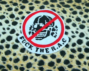Antifascist Patch, Punk Accessories, Skinhead Patch, Hardcore Logo, Jacket Patch, Vest Patch, Punk Rock Logo,Silk Screen, Steam Punk Cloth
