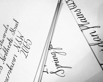 Calligraphy / Hand Lettered Custom Envelopes