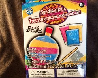 Glitter sand art kit