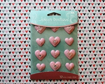 Heart resin scrapbook stickers by Jolee's Boutique