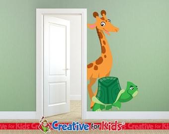 Giraffe Wall Decal, Jungle Wall Decal, Safari Wall Decal, Nursery Wall Decal, Baby Wall Decal, Kids Wall Decal - 7965