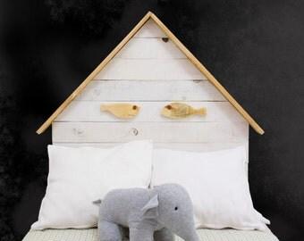 Wooden headboard 2 fish / pallets / room girl / headboard wood / boy / girl