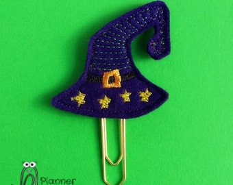 Witch hat paperclip / planner clip, witches hat, wizard hat, felt Halloween witch hat, Halloween planner clip, witch / wizard hat paper clip