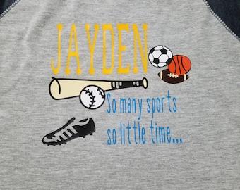 Custom Sports Baseball Style Shirt