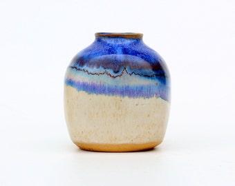 Blue Kamini square vase-ceramic