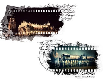 Digital photo mask template for Photoshop film vintage style