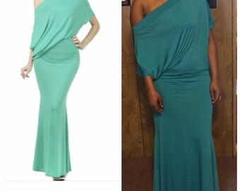 Off Shoulder Form Fitting Dress