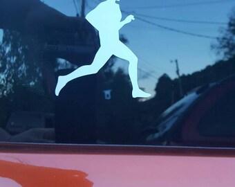 Custom Running man car decal or sticker