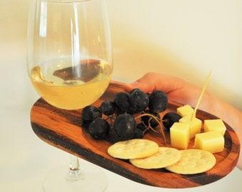 Wine & Appetizer Plate - Set of 4 - Tiger Wood